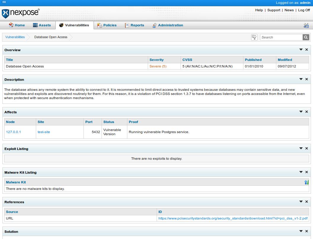 Install Rapid7's Nexpose community edition | HackerTarget com