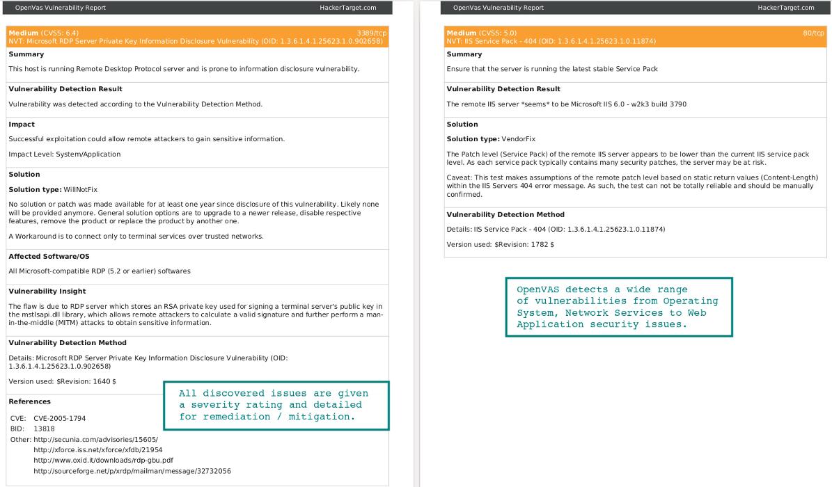OpenVAS Vulnerability Scanner Online | HackerTarget com