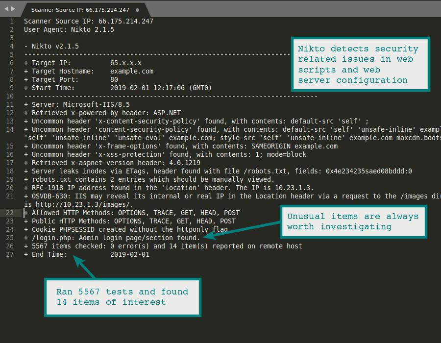Nikto Web Vulnerability Scanner | HackerTarget com
