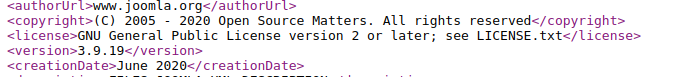 Joomla core version detection