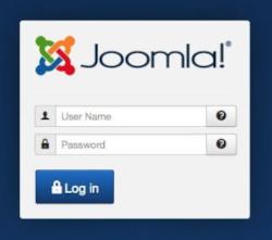 Joomla login form
